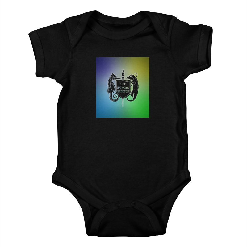 Rainbow Back Logo Kids and Babies Baby Bodysuit by Amer. Society of Ichthyologists & Herpetologists