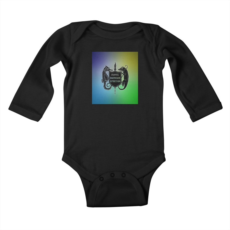 Rainbow Back Logo Kids and Babies Baby Longsleeve Bodysuit by Amer. Society of Ichthyologists & Herpetologists