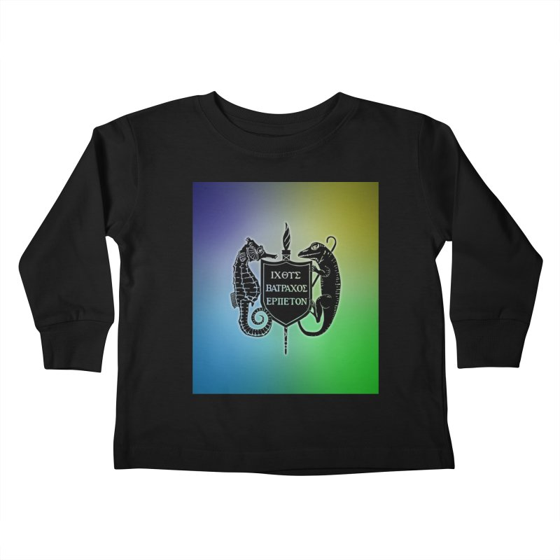 Rainbow Back Logo Kids and Babies Toddler Longsleeve T-Shirt by Amer. Society of Ichthyologists & Herpetologists