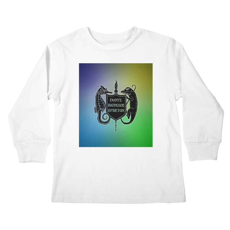 Rainbow Back Logo Kids and Babies Longsleeve T-Shirt by Amer. Society of Ichthyologists & Herpetologists