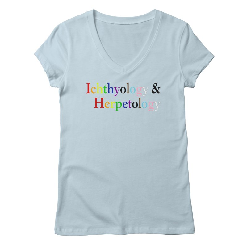 Inclusive Ichthyology & Herpetology Women V-Neck by Amer. Society of Ichthyologists & Herpetologists
