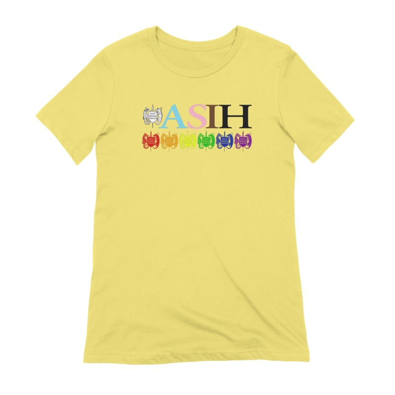 Inclusive ASIH with Colored Logos Women T-Shirt by Amer. Society of Ichthyologists & Herpetologists