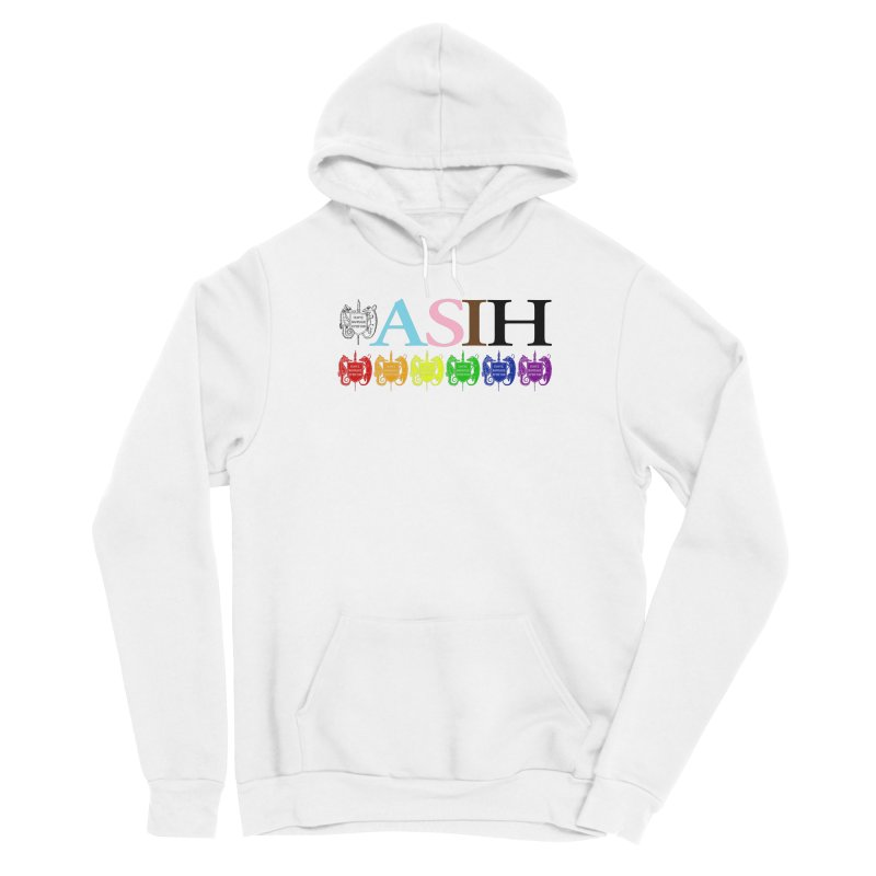 Inclusive ASIH with Colored Logos Men Pullover Hoody by Amer. Society of Ichthyologists & Herpetologists