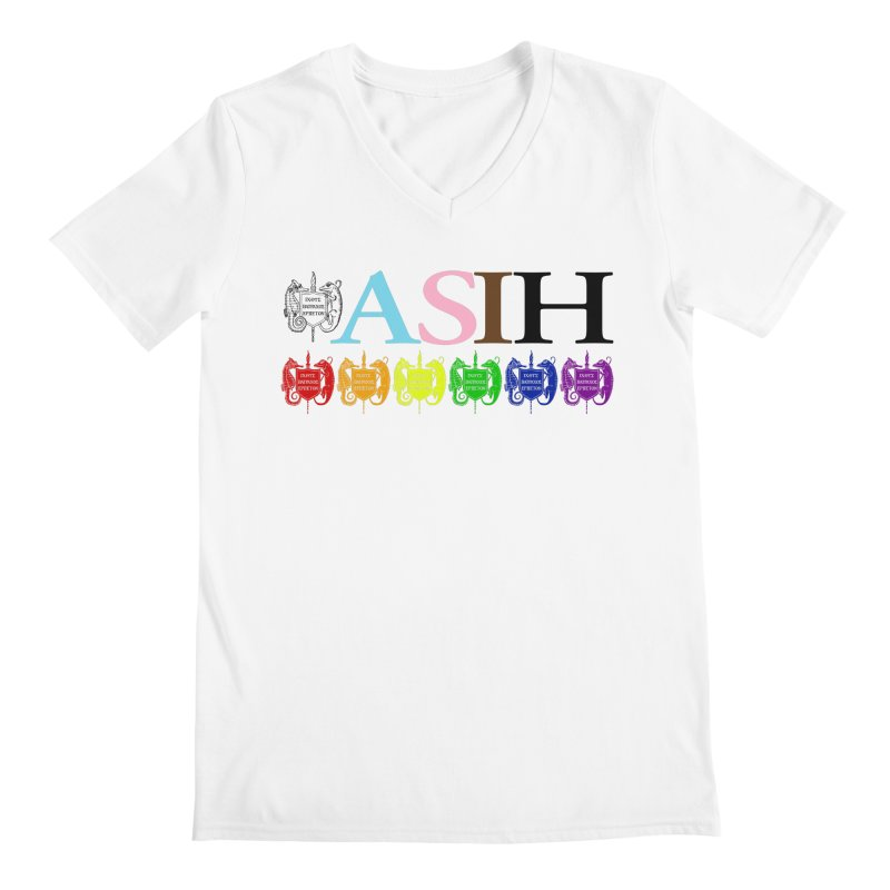 Inclusive ASIH with Colored Logos Men V-Neck by Amer. Society of Ichthyologists & Herpetologists