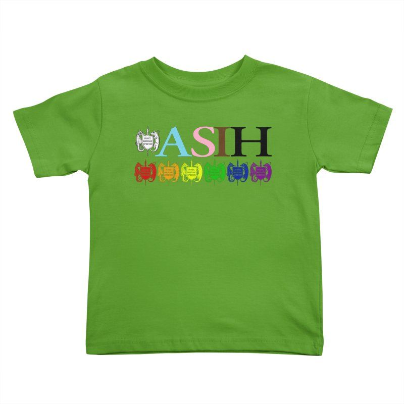 Inclusive ASIH with Colored Logos Kids and Babies Toddler T-Shirt by Amer. Society of Ichthyologists & Herpetologists