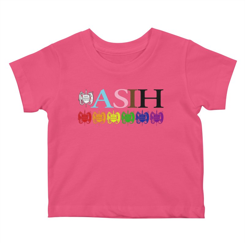 Inclusive ASIH with Colored Logos Kids and Babies Baby T-Shirt by Amer. Society of Ichthyologists & Herpetologists