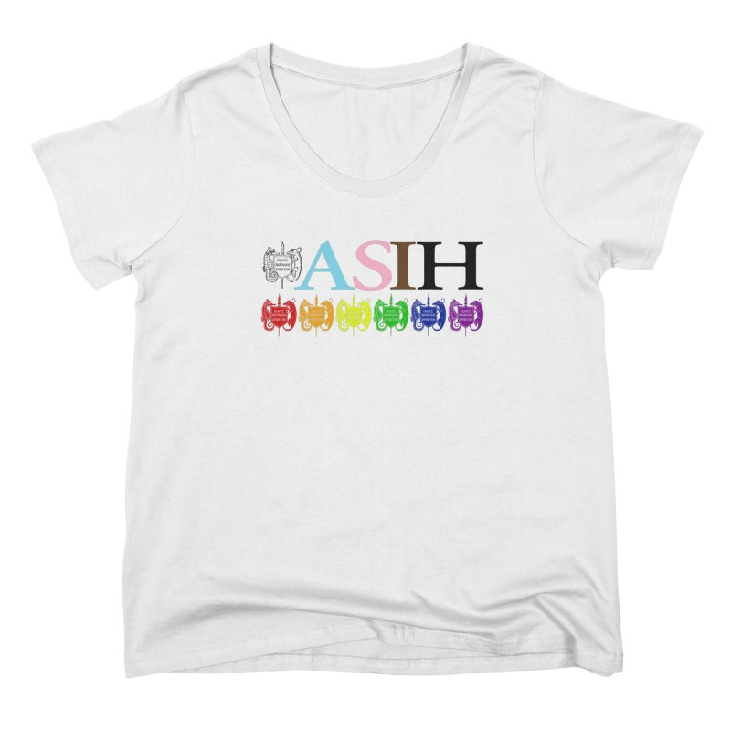 Inclusive ASIH with Colored Logos Women Scoop Neck by Amer. Society of Ichthyologists & Herpetologists