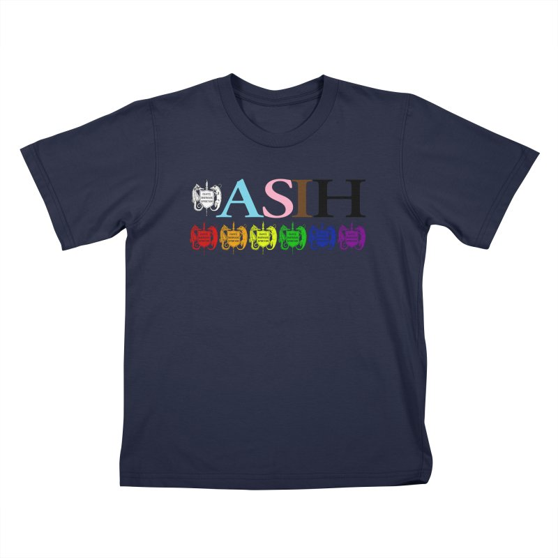 Inclusive ASIH with Colored Logos Kids and Babies T-Shirt by Amer. Society of Ichthyologists & Herpetologists