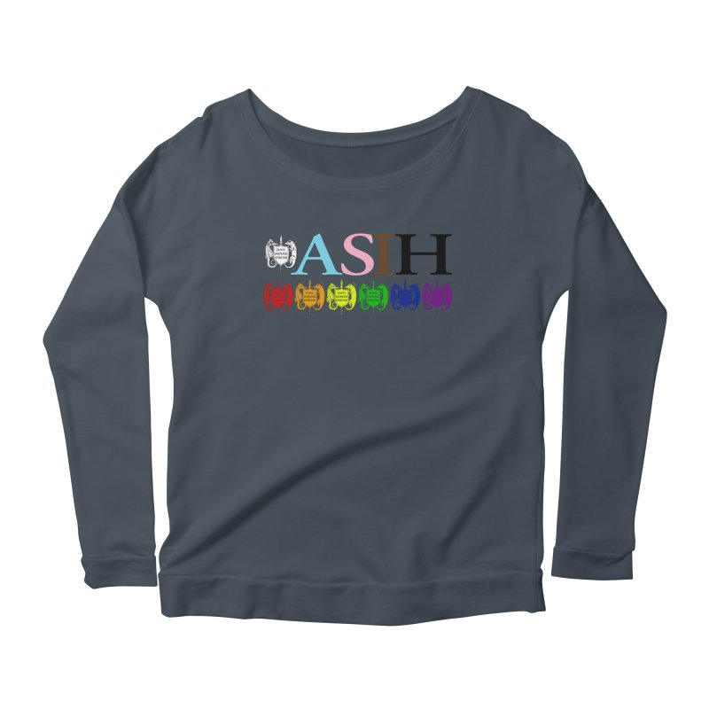 Inclusive ASIH with Colored Logos Women Longsleeve T-Shirt by Amer. Society of Ichthyologists & Herpetologists