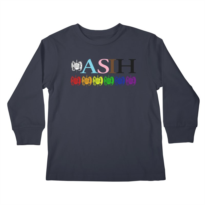 Inclusive ASIH with Colored Logos Kids and Babies Longsleeve T-Shirt by Amer. Society of Ichthyologists & Herpetologists