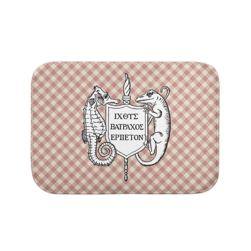 Pink Gingham Home Goods Bath Mat by Amer. Society of Ichthyologists & Herpetologists