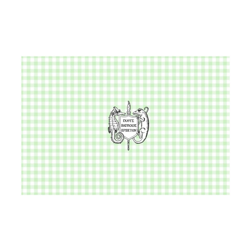 Green Gingham Home Goods Bath Mat by Amer. Society of Ichthyologists & Herpetologists