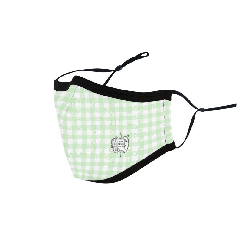 Small Green Gingham Mask Masks, Mugs, Notebooks, and Fun Stuff Face Mask by Amer. Society of Ichthyologists & Herpetologists