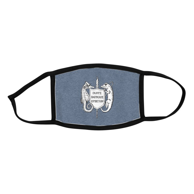 Heather Dark Blue Mask Masks, Mugs, Notebooks, and Fun Stuff Face Mask by Amer. Society of Ichthyologists & Herpetologists