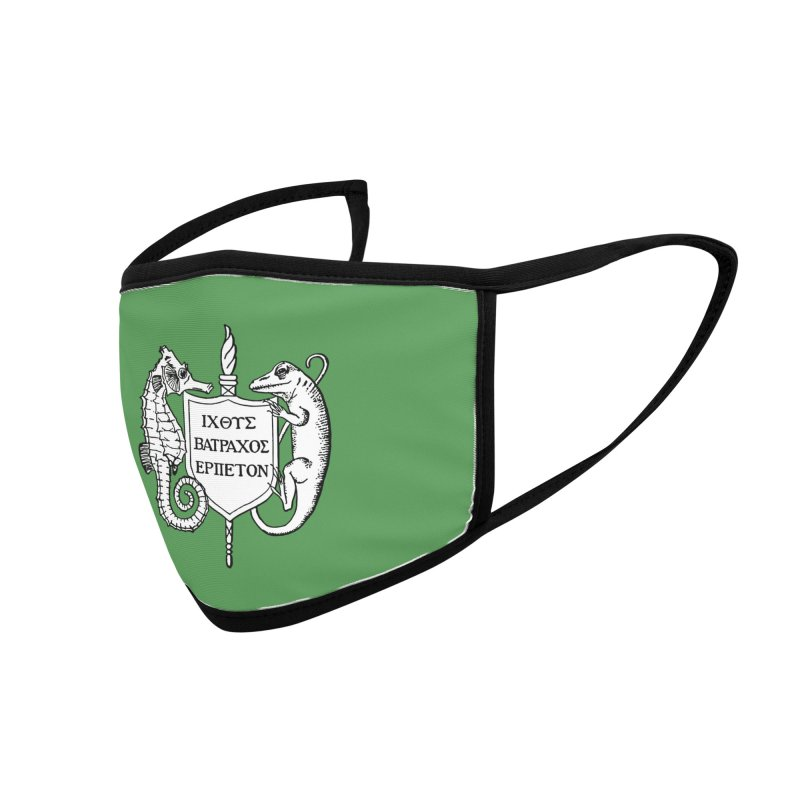 Green Mask Masks, Mugs, Notebooks, and Fun Stuff Face Mask by Amer. Society of Ichthyologists & Herpetologists