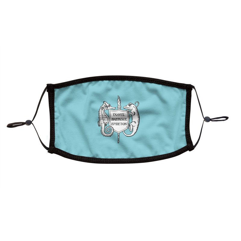 Teal Mask Masks, Mugs, Notebooks, and Fun Stuff Face Mask by Amer. Society of Ichthyologists & Herpetologists