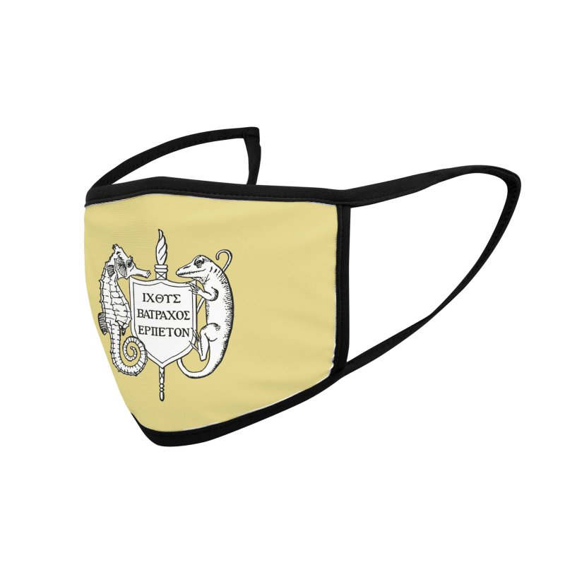 Yellow Mask Masks, Mugs, Notebooks, and Fun Stuff Face Mask by Amer. Society of Ichthyologists & Herpetologists