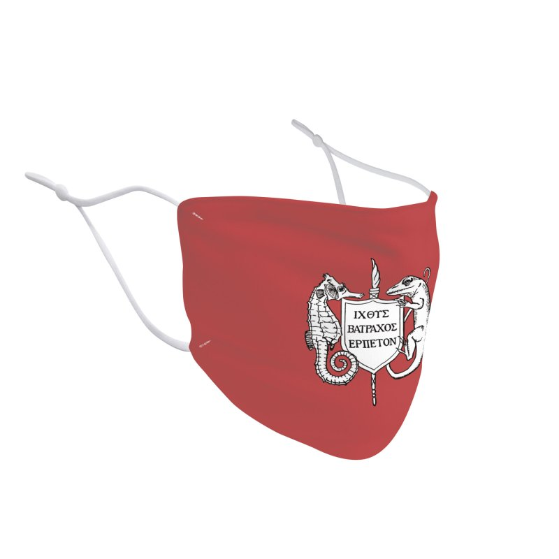 Red Mask Masks, Mugs, Notebooks, and Fun Stuff Face Mask by Amer. Society of Ichthyologists & Herpetologists
