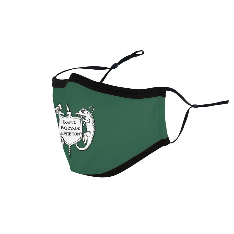 Dark Green Mask Masks, Mugs, Notebooks, and Fun Stuff Face Mask by Amer. Society of Ichthyologists & Herpetologists