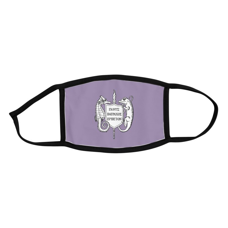 Purple Mask Masks, Mugs, Notebooks, and Fun Stuff Face Mask by Amer. Society of Ichthyologists & Herpetologists