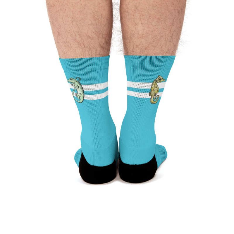 Blue Socks with ASIH Animals Men Socks by Amer. Society of Ichthyologists & Herpetologists