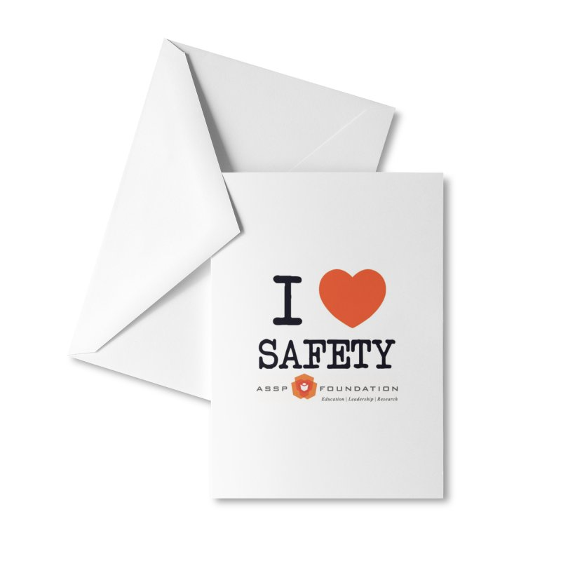 I Heart Safety Products Accessories Greeting Card by ASSP Foundation