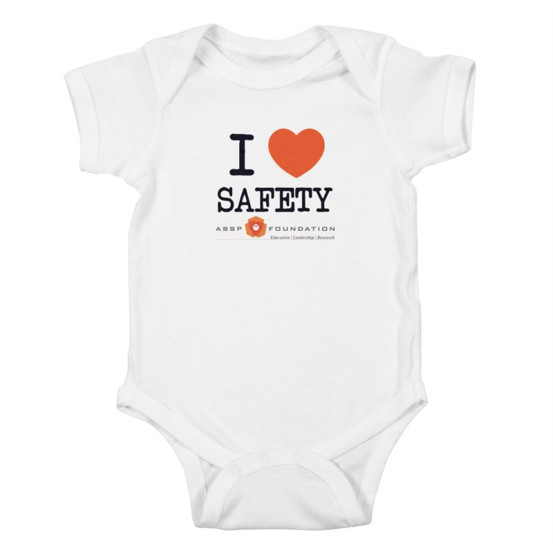 I Heart Safety Products in Kids Baby Bodysuit White by ASSP Foundation