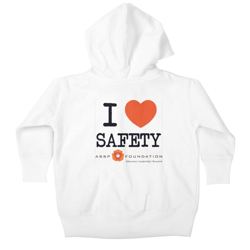 I Heart Safety Products Kids Baby Zip-Up Hoody by ASSP Foundation