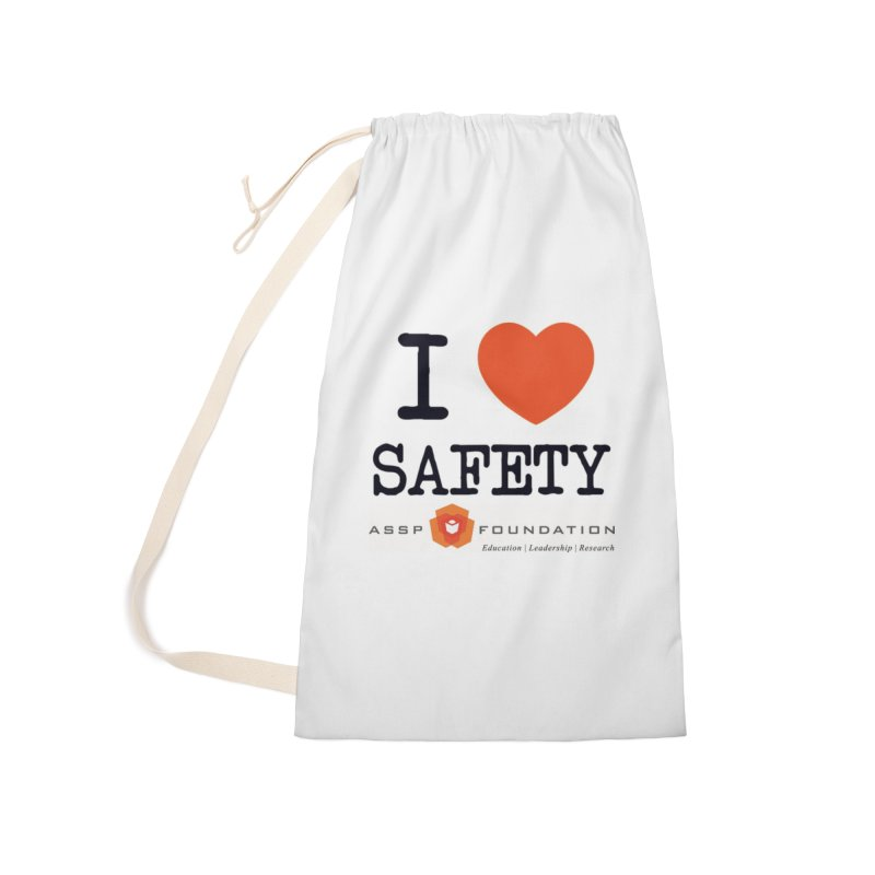 I Heart Safety Products Accessories Laundry Bag Bag by ASSP Foundation