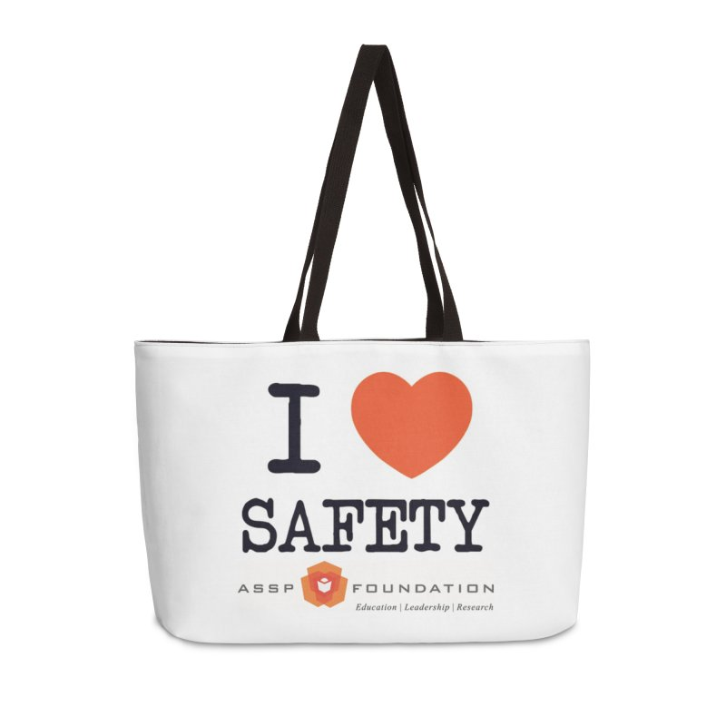 I Heart Safety Products in Weekender Bag by ASSP Foundation