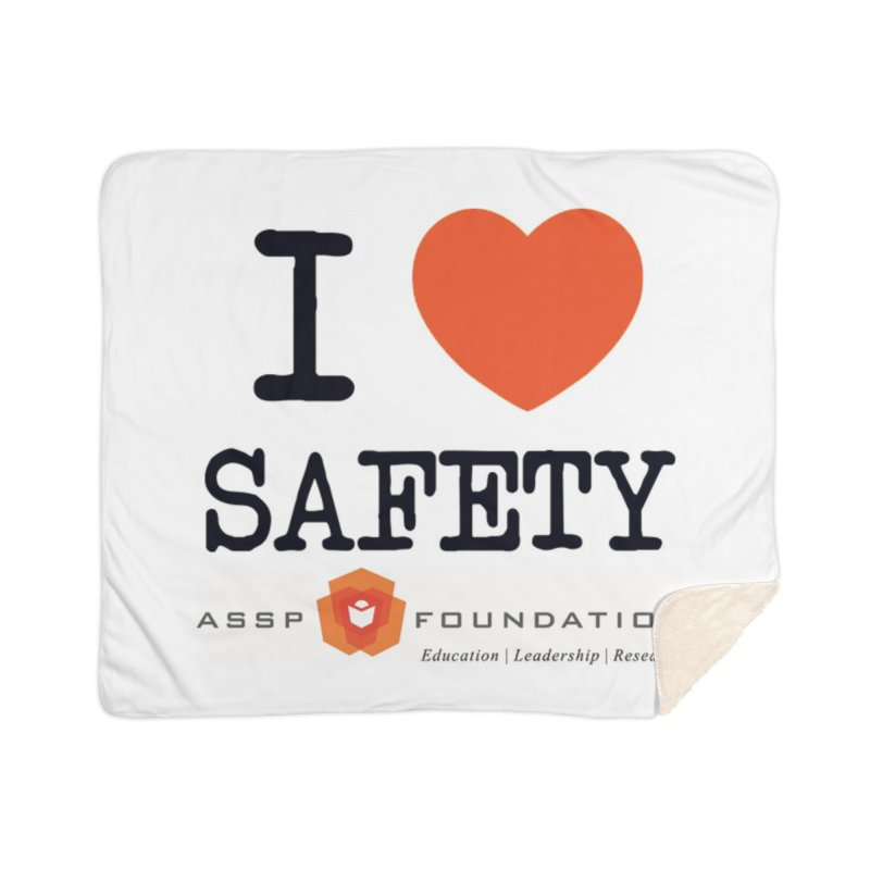 I Heart Safety Products Home Sherpa Blanket Blanket by ASSP Foundation