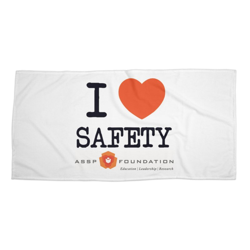 I Heart Safety Products in Beach Towel by ASSP Foundation