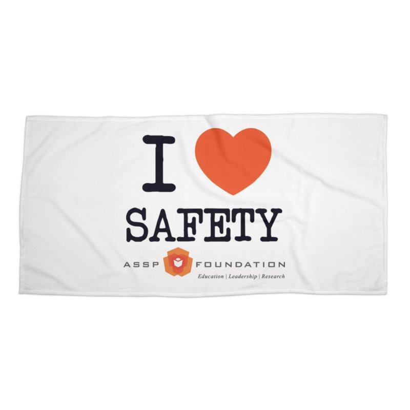I Heart Safety Products Accessories Beach Towel by ASSP Foundation
