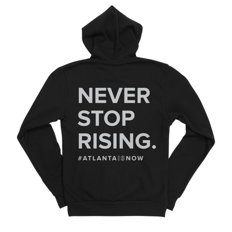 Never Stop Rising. Men's Zip-Up Hoody by ATLBrandBox's Artist Shop