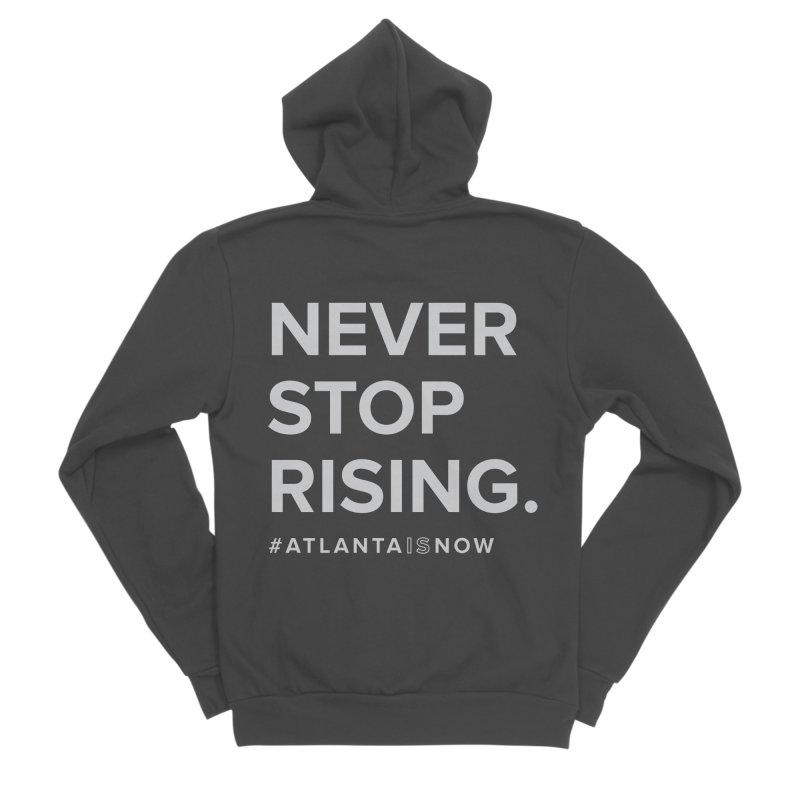 Never Stop Rising. Men's Sponge Fleece Zip-Up Hoody by ATLBrandBox's Artist Shop