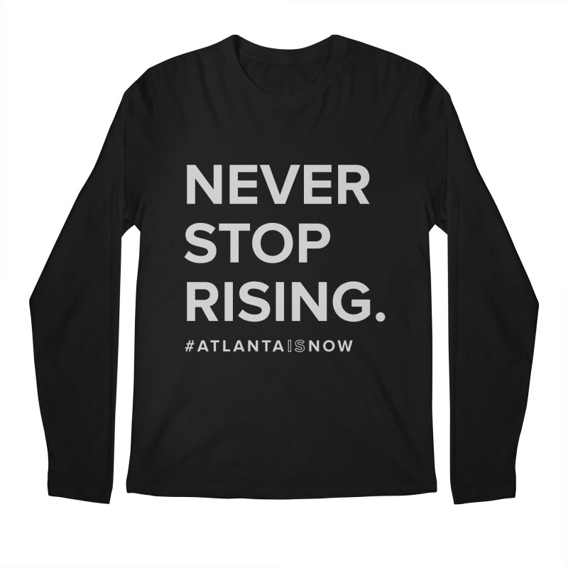 Never Stop Rising. Men's Regular Longsleeve T-Shirt by ATLBrandBox's Artist Shop