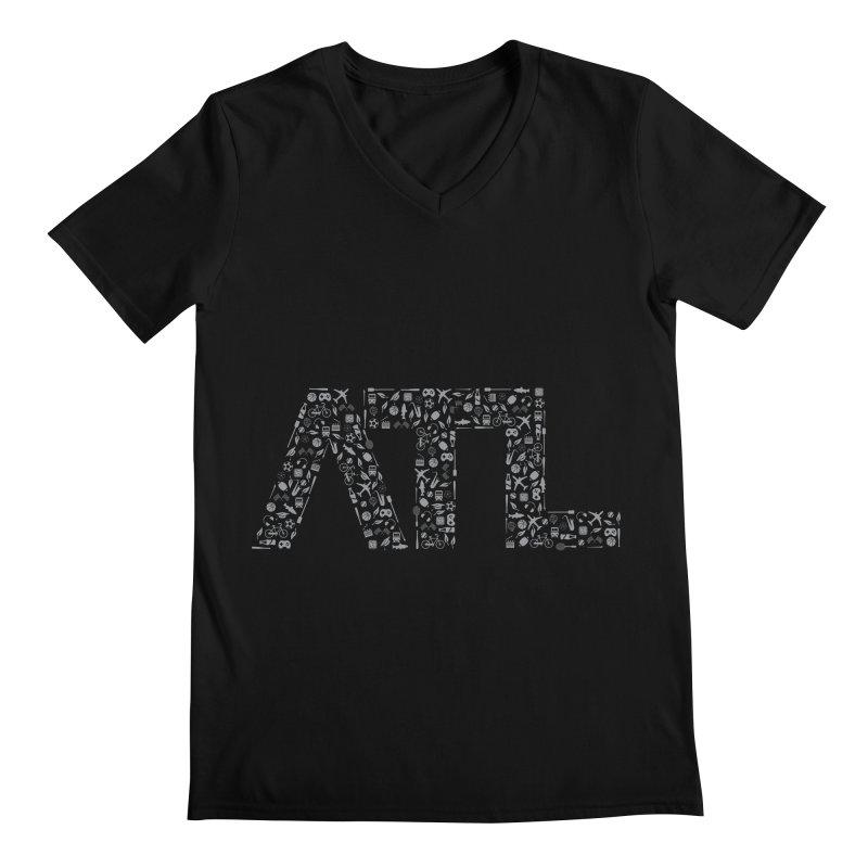 ATL Men's Regular V-Neck by ATLBrandBox's Artist Shop