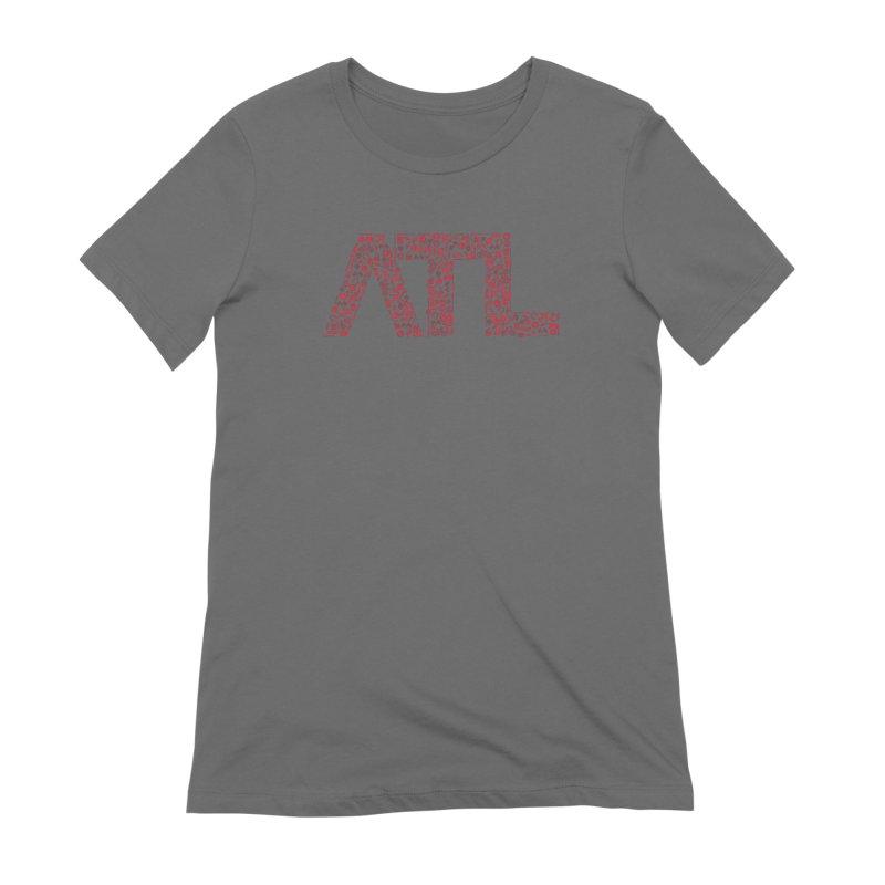 Red ATL Icon Logo Women's T-Shirt by ATLBrandBox's Artist Shop