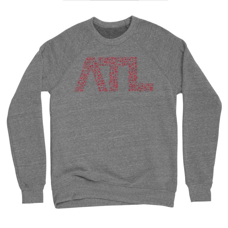 Red ATL Icon Logo Men's Sweatshirt by ATLBrandBox's Artist Shop