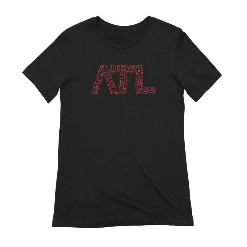 Red ATL Icon Logo Women's Extra Soft T-Shirt by ATLBrandBox's Artist Shop