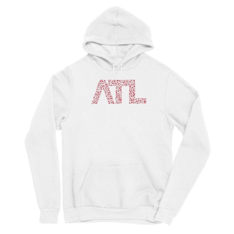 Red ATL Icon Logo Men's Pullover Hoody by ATLBrandBox's Artist Shop
