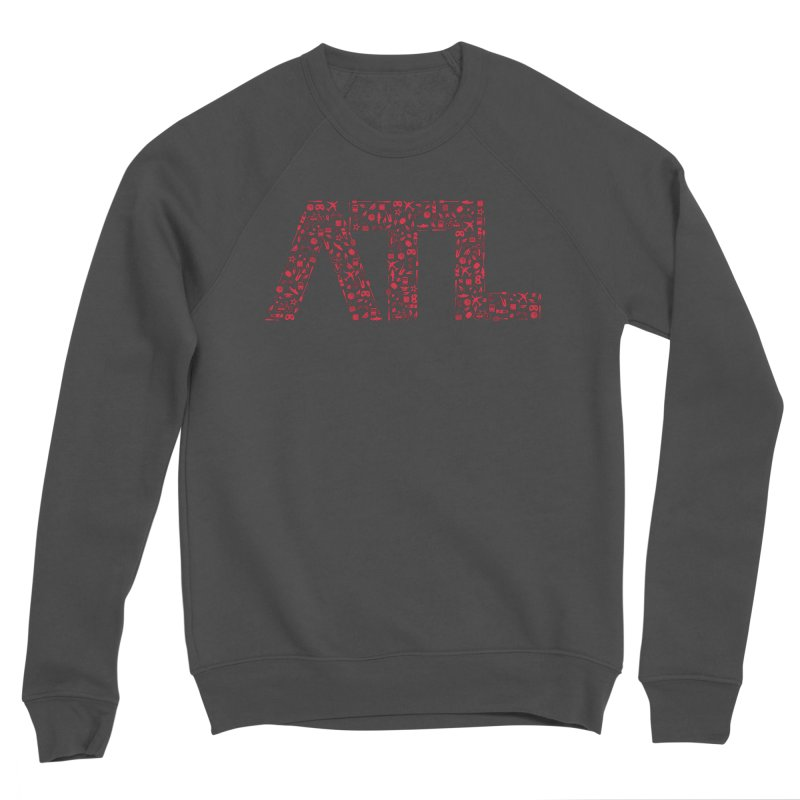 Red ATL Icon Logo Men's Sponge Fleece Sweatshirt by ATLBrandBox's Artist Shop