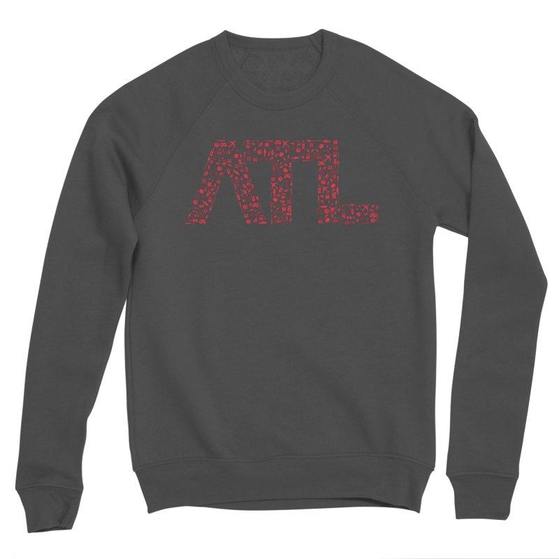 Red ATL Icon Logo Women's Sponge Fleece Sweatshirt by ATLBrandBox's Artist Shop