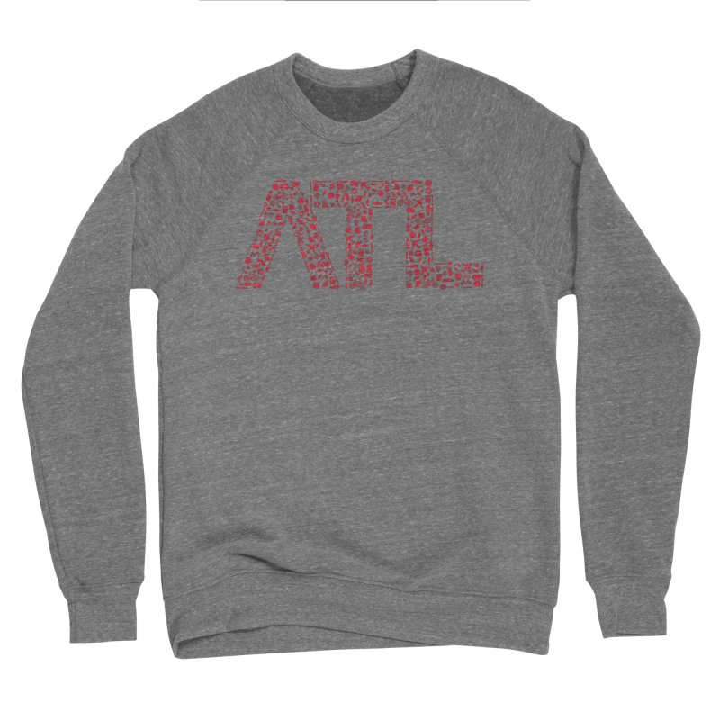 Red ATL Icon Logo Men's Sponge Fleece Sweatshirt by ATLBrandBox's Artist Shop