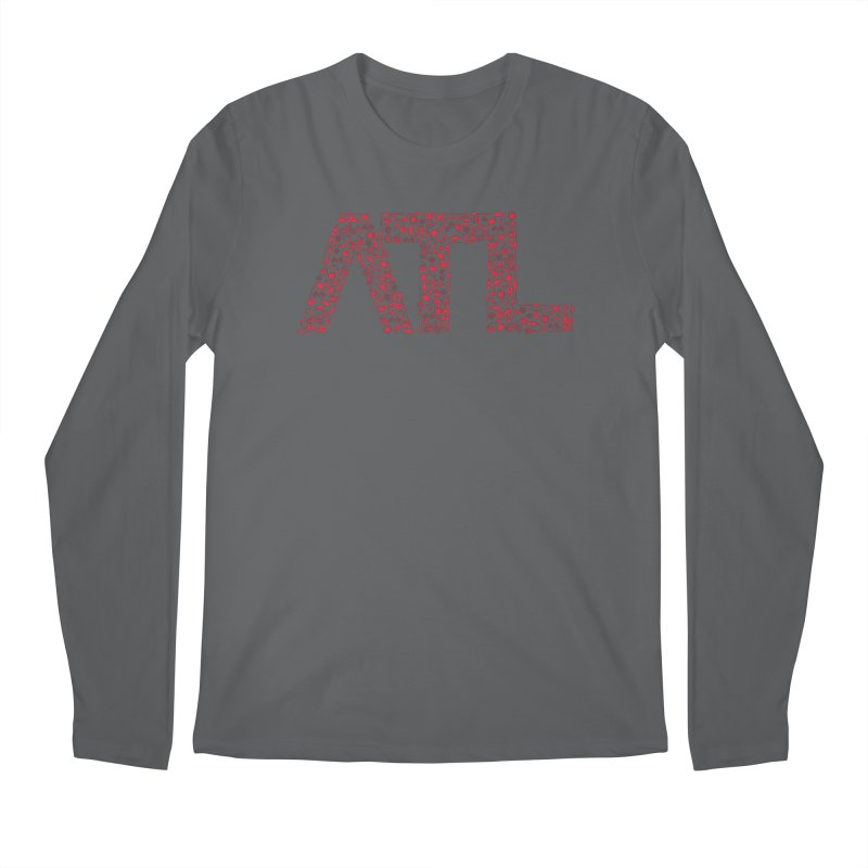 Red ATL Icon Logo Men's Regular Longsleeve T-Shirt by ATLBrandBox's Artist Shop