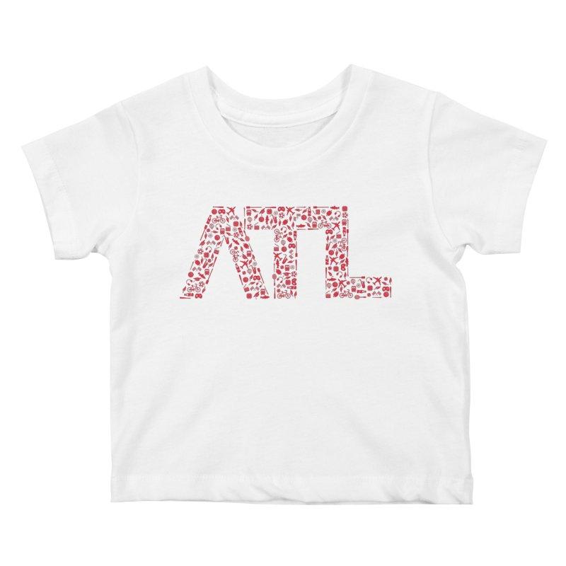 Red ATL Icon Logo Kids Baby T-Shirt by ATLBrandBox's Artist Shop