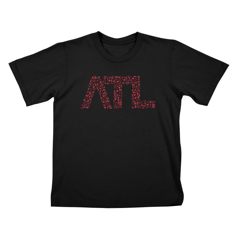 Red ATL Icon Logo Kids T-Shirt by ATLBrandBox's Artist Shop