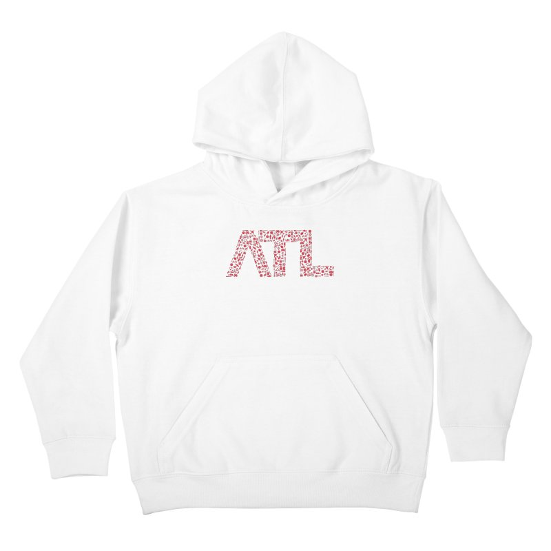 Red ATL Icon Logo Kids Pullover Hoody by ATLBrandBox's Artist Shop