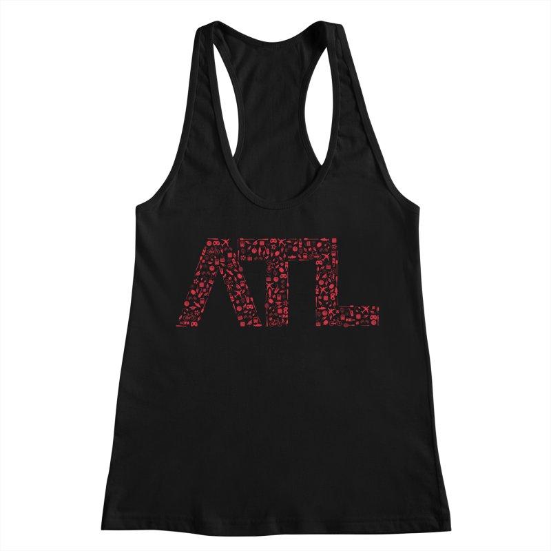 Red ATL Icon Logo Women's Tank by ATLBrandBox's Artist Shop