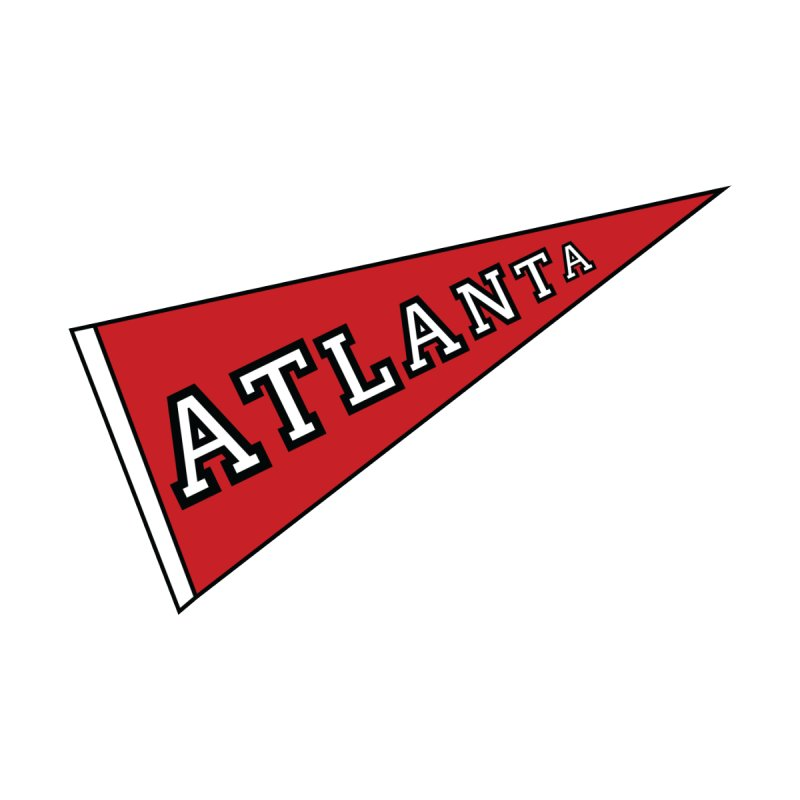 Atlanta Pennant Kids T-Shirt by ATLBrandBox's Artist Shop
